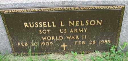 NELSON, RUSSELL L. (WW II) - Yankton County, South Dakota | RUSSELL L. (WW II) NELSON - South Dakota Gravestone Photos