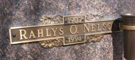 NELSON, RAHLYS O. - Yankton County, South Dakota   RAHLYS O. NELSON - South Dakota Gravestone Photos