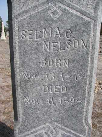 NELSON, SELMA G. (CLOSEUP) - Yankton County, South Dakota | SELMA G. (CLOSEUP) NELSON - South Dakota Gravestone Photos