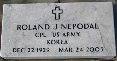 NEPODAL, ROLAND J. (KOREA) - Yankton County, South Dakota   ROLAND J. (KOREA) NEPODAL - South Dakota Gravestone Photos
