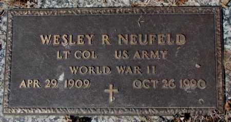 NEUFELD, WESLEY R. - Yankton County, South Dakota | WESLEY R. NEUFELD - South Dakota Gravestone Photos