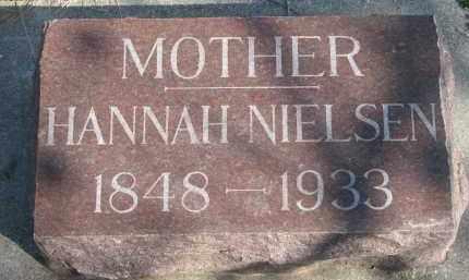 NIELSEN, HANNAH - Yankton County, South Dakota | HANNAH NIELSEN - South Dakota Gravestone Photos