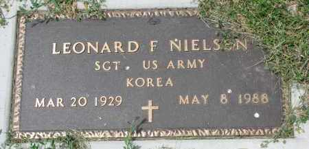 NIELSEN, LEONARD F. (MILITARY) - Yankton County, South Dakota | LEONARD F. (MILITARY) NIELSEN - South Dakota Gravestone Photos