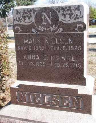 NIELSEN, MADS - Yankton County, South Dakota | MADS NIELSEN - South Dakota Gravestone Photos