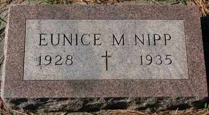 NIPP, EUNICE M. - Yankton County, South Dakota | EUNICE M. NIPP - South Dakota Gravestone Photos