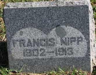 NIPP, FRANCIS - Yankton County, South Dakota   FRANCIS NIPP - South Dakota Gravestone Photos