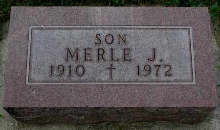 NOHR, MERLE J. - Yankton County, South Dakota   MERLE J. NOHR - South Dakota Gravestone Photos