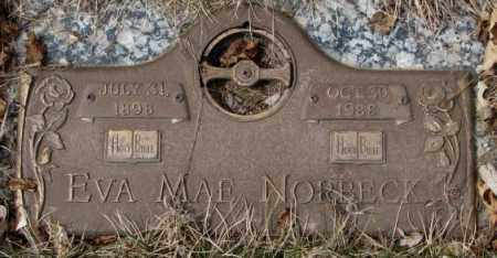 NORBECK, EVA MAE - Yankton County, South Dakota | EVA MAE NORBECK - South Dakota Gravestone Photos