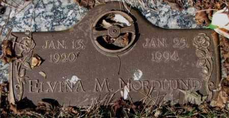 NORDLUND, ELVINA M. - Yankton County, South Dakota | ELVINA M. NORDLUND - South Dakota Gravestone Photos