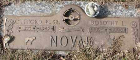 NOVAK, CLIFFORD E. SR. - Yankton County, South Dakota | CLIFFORD E. SR. NOVAK - South Dakota Gravestone Photos