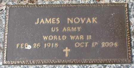 NOVAK, JAMES (WW II) - Yankton County, South Dakota | JAMES (WW II) NOVAK - South Dakota Gravestone Photos