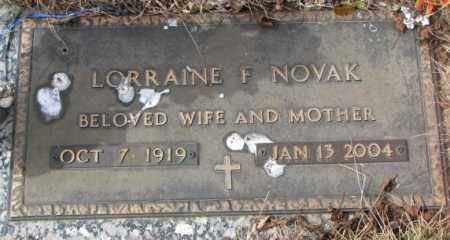 NOVAK, LORRAINE F. - Yankton County, South Dakota | LORRAINE F. NOVAK - South Dakota Gravestone Photos