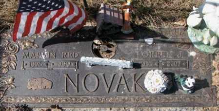"NOVAK, MARVIN ""RED"" - Yankton County, South Dakota | MARVIN ""RED"" NOVAK - South Dakota Gravestone Photos"