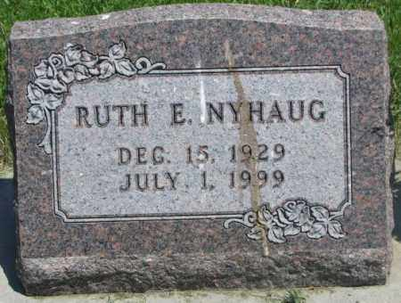 NYHAUG, RUTH E. - Yankton County, South Dakota | RUTH E. NYHAUG - South Dakota Gravestone Photos