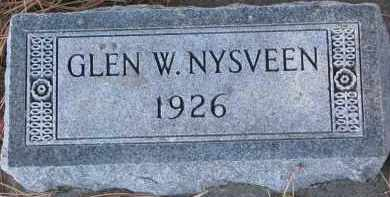NYSVEEN, GLEN W. - Yankton County, South Dakota | GLEN W. NYSVEEN - South Dakota Gravestone Photos