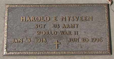 NYSVEEN, HAROLD E. (WW II) - Yankton County, South Dakota | HAROLD E. (WW II) NYSVEEN - South Dakota Gravestone Photos