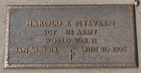 NYSVEEN, HAROLD E. (WW II) - Yankton County, South Dakota | HAROLD E. (WW II) NYSVEEN - South Dakota Gravestone Photos