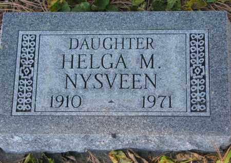 NYSVEEN, HELGA M. - Yankton County, South Dakota | HELGA M. NYSVEEN - South Dakota Gravestone Photos