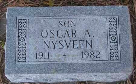 NYSVEEN, OSCAR A. - Yankton County, South Dakota   OSCAR A. NYSVEEN - South Dakota Gravestone Photos