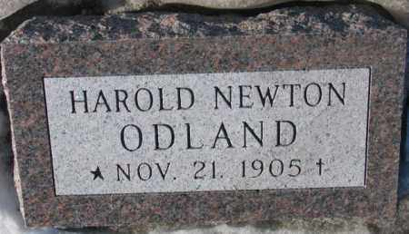 ODLAND, HAROLD NEWTON - Yankton County, South Dakota | HAROLD NEWTON ODLAND - South Dakota Gravestone Photos