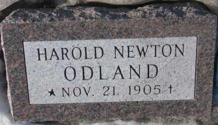 ODLAND, HAROLD NEWTON - Yankton County, South Dakota | HAROLD NEWTON ODLAND - South Dakota Gravestone Photos