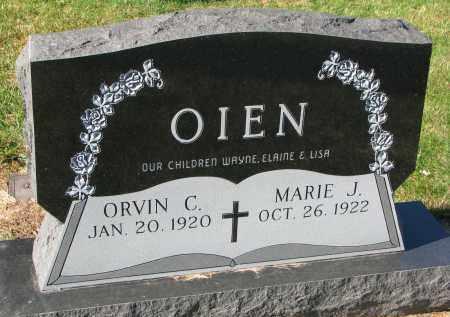 OIEN, ORVIN C. - Yankton County, South Dakota | ORVIN C. OIEN - South Dakota Gravestone Photos