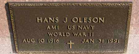 OLESON, HANS J. (WW II) - Yankton County, South Dakota | HANS J. (WW II) OLESON - South Dakota Gravestone Photos
