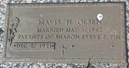 OLSEN, MAVIS H. - Yankton County, South Dakota | MAVIS H. OLSEN - South Dakota Gravestone Photos