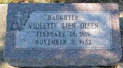 OLSEN, VIOLETTE - Yankton County, South Dakota   VIOLETTE OLSEN - South Dakota Gravestone Photos