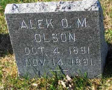 OLSON, ALEK O.M. - Yankton County, South Dakota | ALEK O.M. OLSON - South Dakota Gravestone Photos
