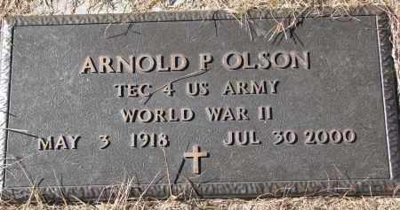 OLSON, ARNOLD P. (WW II) - Yankton County, South Dakota   ARNOLD P. (WW II) OLSON - South Dakota Gravestone Photos
