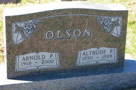 OLSON, ALTRUDE P. - Yankton County, South Dakota   ALTRUDE P. OLSON - South Dakota Gravestone Photos