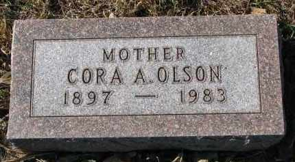 OLSON, CORA A. - Yankton County, South Dakota | CORA A. OLSON - South Dakota Gravestone Photos