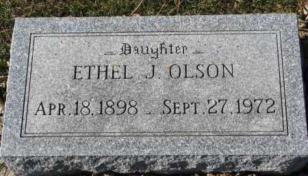 OLSON, ETHEL J. - Yankton County, South Dakota | ETHEL J. OLSON - South Dakota Gravestone Photos