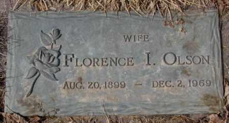 OLSON, FLORENCE I. - Yankton County, South Dakota   FLORENCE I. OLSON - South Dakota Gravestone Photos