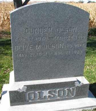 OLSON, OLIVE M. - Yankton County, South Dakota | OLIVE M. OLSON - South Dakota Gravestone Photos