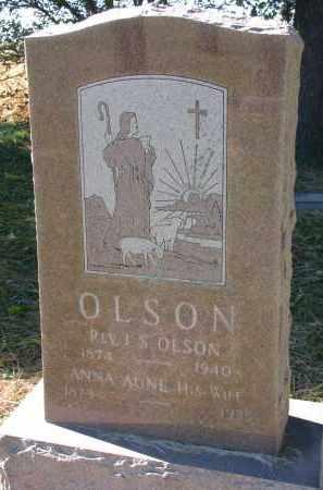 OLSON, ANNA - Yankton County, South Dakota   ANNA OLSON - South Dakota Gravestone Photos