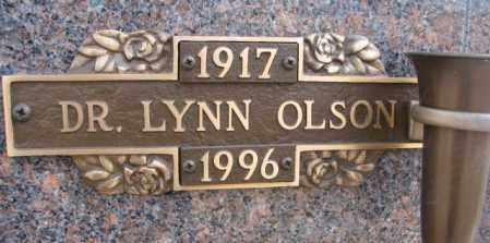 OLSON, LYNN (DR.) - Yankton County, South Dakota   LYNN (DR.) OLSON - South Dakota Gravestone Photos