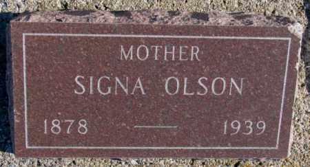 OLSON, SIGNA - Yankton County, South Dakota | SIGNA OLSON - South Dakota Gravestone Photos