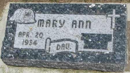 O'MALLEY, MARY ANN - Yankton County, South Dakota | MARY ANN O'MALLEY - South Dakota Gravestone Photos