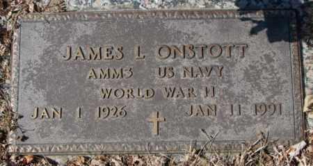 ONSTOTT, JAMES L. - Yankton County, South Dakota | JAMES L. ONSTOTT - South Dakota Gravestone Photos