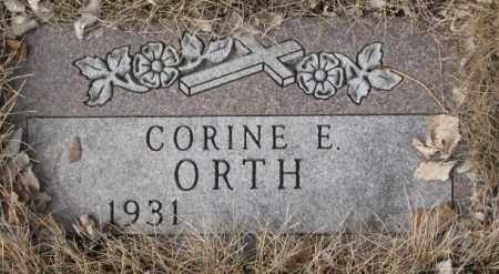 ORTH, CORINE E. - Yankton County, South Dakota   CORINE E. ORTH - South Dakota Gravestone Photos