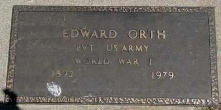 ORTH, EDWARD (WW I) - Yankton County, South Dakota | EDWARD (WW I) ORTH - South Dakota Gravestone Photos