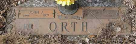 ORTH, JOHN A. - Yankton County, South Dakota | JOHN A. ORTH - South Dakota Gravestone Photos