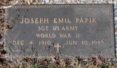 PAPIK, JOSEPH EMIL - Yankton County, South Dakota | JOSEPH EMIL PAPIK - South Dakota Gravestone Photos