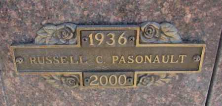 PASONAULT, RUSSELL C. - Yankton County, South Dakota | RUSSELL C. PASONAULT - South Dakota Gravestone Photos