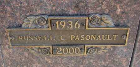 PASONAULT, RUSSELL C. - Yankton County, South Dakota | RUSSELL C. PASONAULT - South Dakota Gravestone Photos