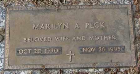 PECK, MARILYN A. - Yankton County, South Dakota | MARILYN A. PECK - South Dakota Gravestone Photos
