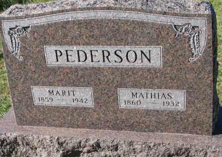 PEDERSON, MATHIAS - Yankton County, South Dakota | MATHIAS PEDERSON - South Dakota Gravestone Photos