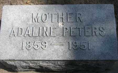 PETERS, ADALINE - Yankton County, South Dakota   ADALINE PETERS - South Dakota Gravestone Photos